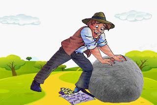 El campesino y la roca