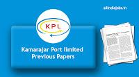 Kamarajar Port Limited Previous Papers