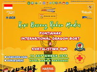 Ayoo Hadiri Event International Dragon Boat Dan Khatulistiwa Run