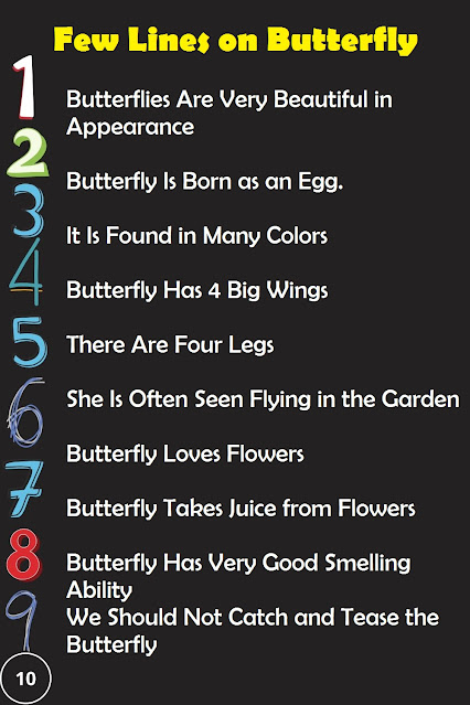 10 Lines on Butterfly in English for Kids