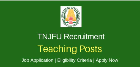 TNJFU Recruitment 2019