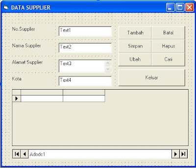 Tutorial Membuat Program Create, Read, Update, dan Delete (CRUD) Database di VB6