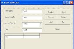Source Code CRUD & Tutorial Membuat Program CRUD dengan VB6