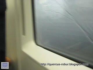 Tormenta viajando en tren desde Nannjing a Wuxi