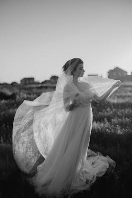 Vestido de novia con velo
