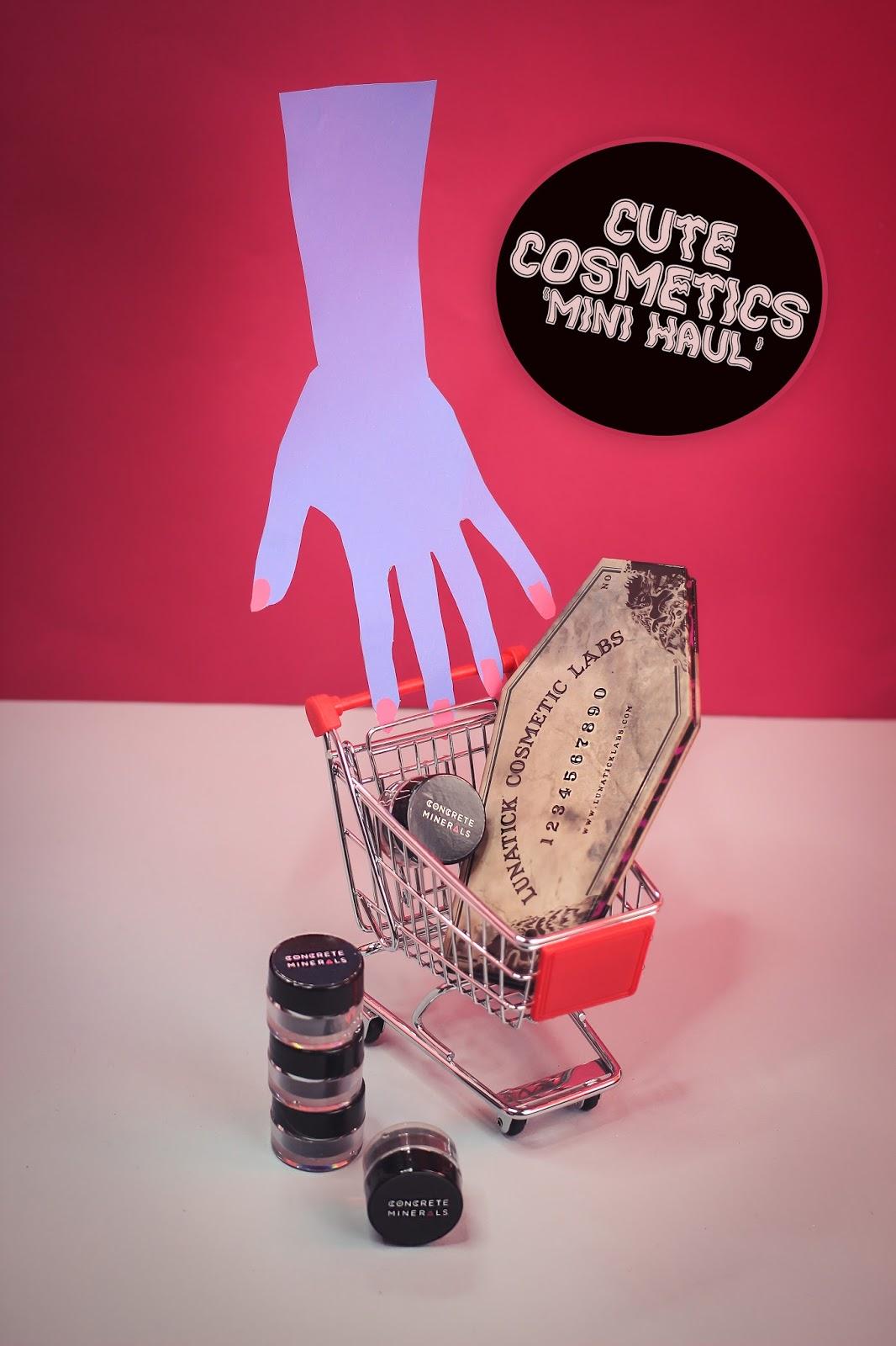 Cute Cosmetics Mini Haul: Lunatick Cosmetics & Concrete Minerals  - The Goodowl UK Blogger
