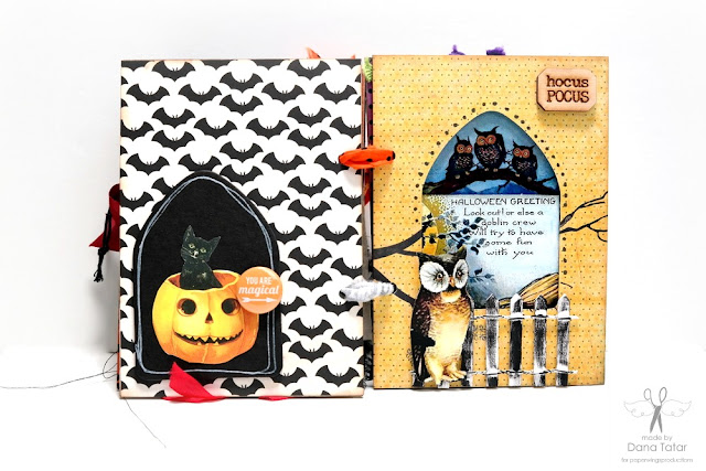 Dead Zone Halloween Mini Album Page 9 by Dana Tatar for Paper Wings Productions