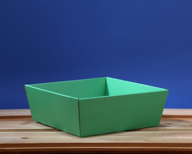 Kosz prezentowy 25 x 25 zielony