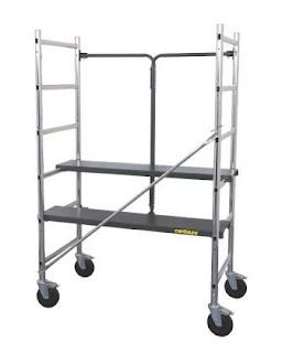 mobile scaffold, scaffolding bergerak, roda scaffold, scaffolding besi