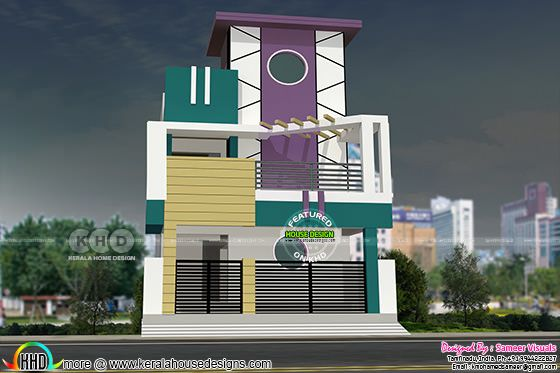 1550 square Tamilnadu house plan