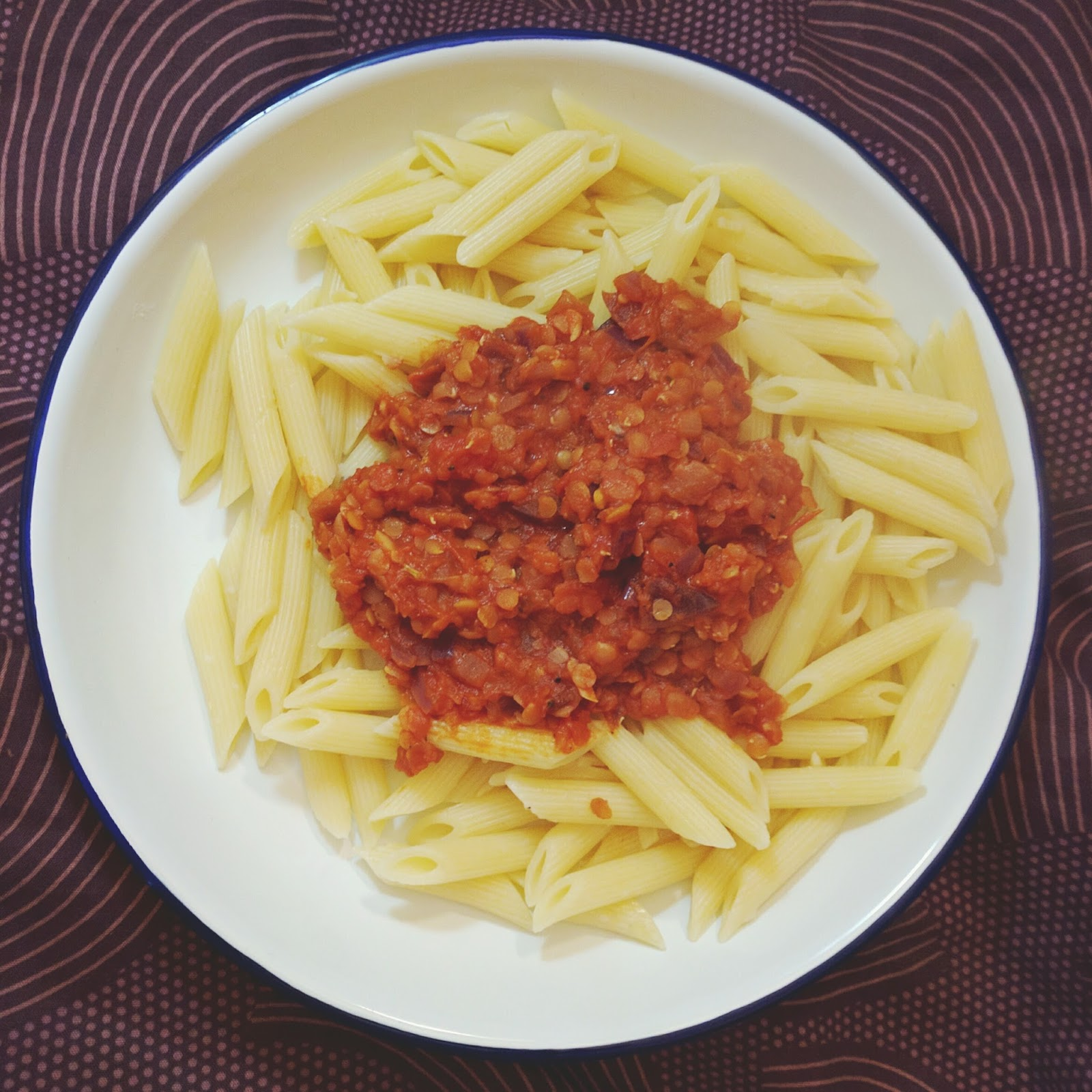 Homemade vegan bolognese
