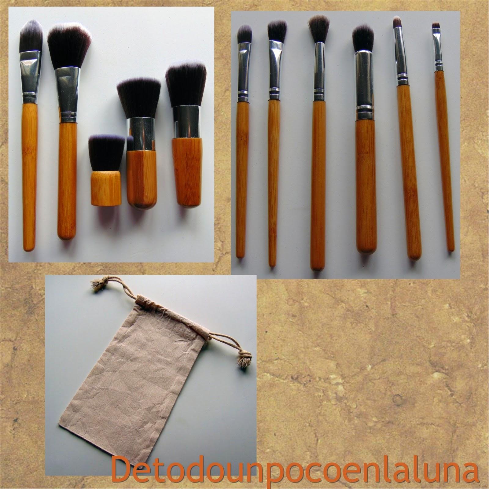 Set 11 brochas de maquillaje de bambú de Buyincoins