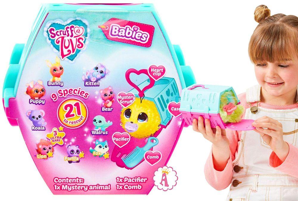 Мини-версия игрушек няшки-потеряшки Scruff-a-Luvs Babies новинка 2020 года