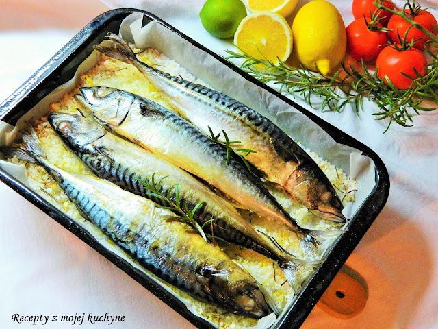 Makrela pečená na citrónovo-rozmarínovej soli