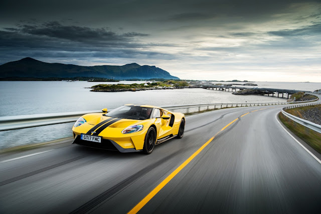 The spectacular Ford GT wanders far to the north and also beats a record