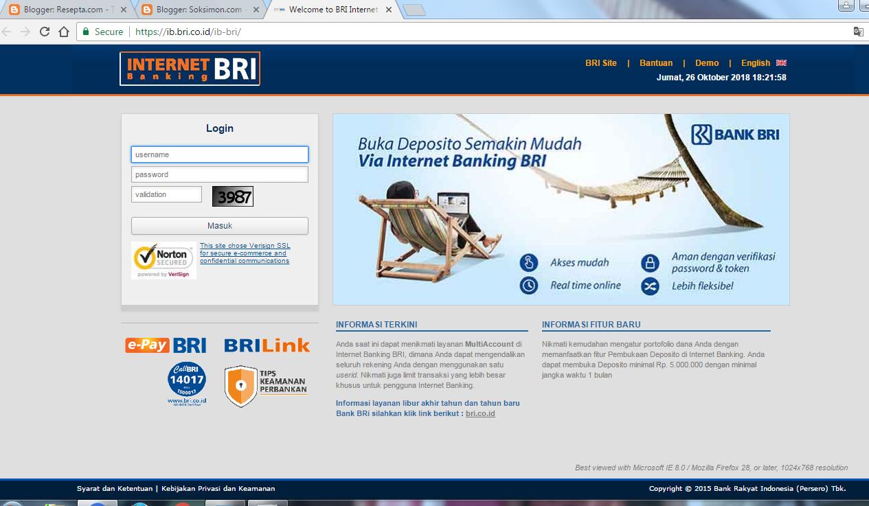 cara daftar internet banking BRI dan kelebihannya