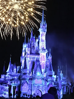 Cinderella Castle With Fireworks Magic Kingdom Disney World