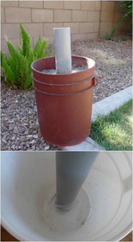 Easy%2BDIY%2BPatio%2BUmbrella%2BStand 15 DIY Genius Project Ideas For Repurposing Old Gallon Buckets Interior