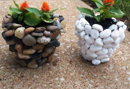 0 cara membuat pot tanaman dari bebatuan sungai