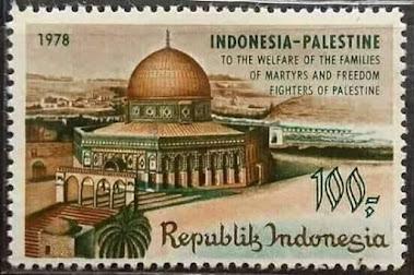 Perangko Indonesia untuk Palestina