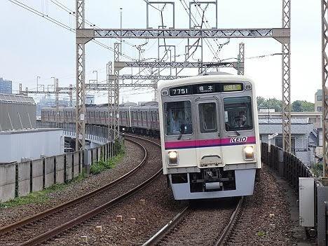 京王電鉄 区間急行 橋本行き12 7000系幕車