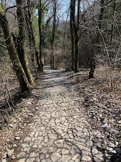 Trails in and out of Olera (Bergamo).