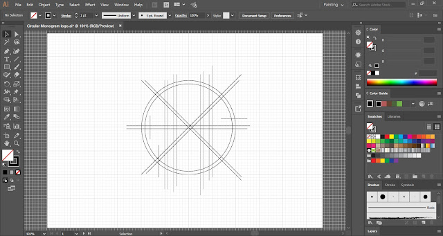 Circular Monogram Logo in Adobe Illustrator