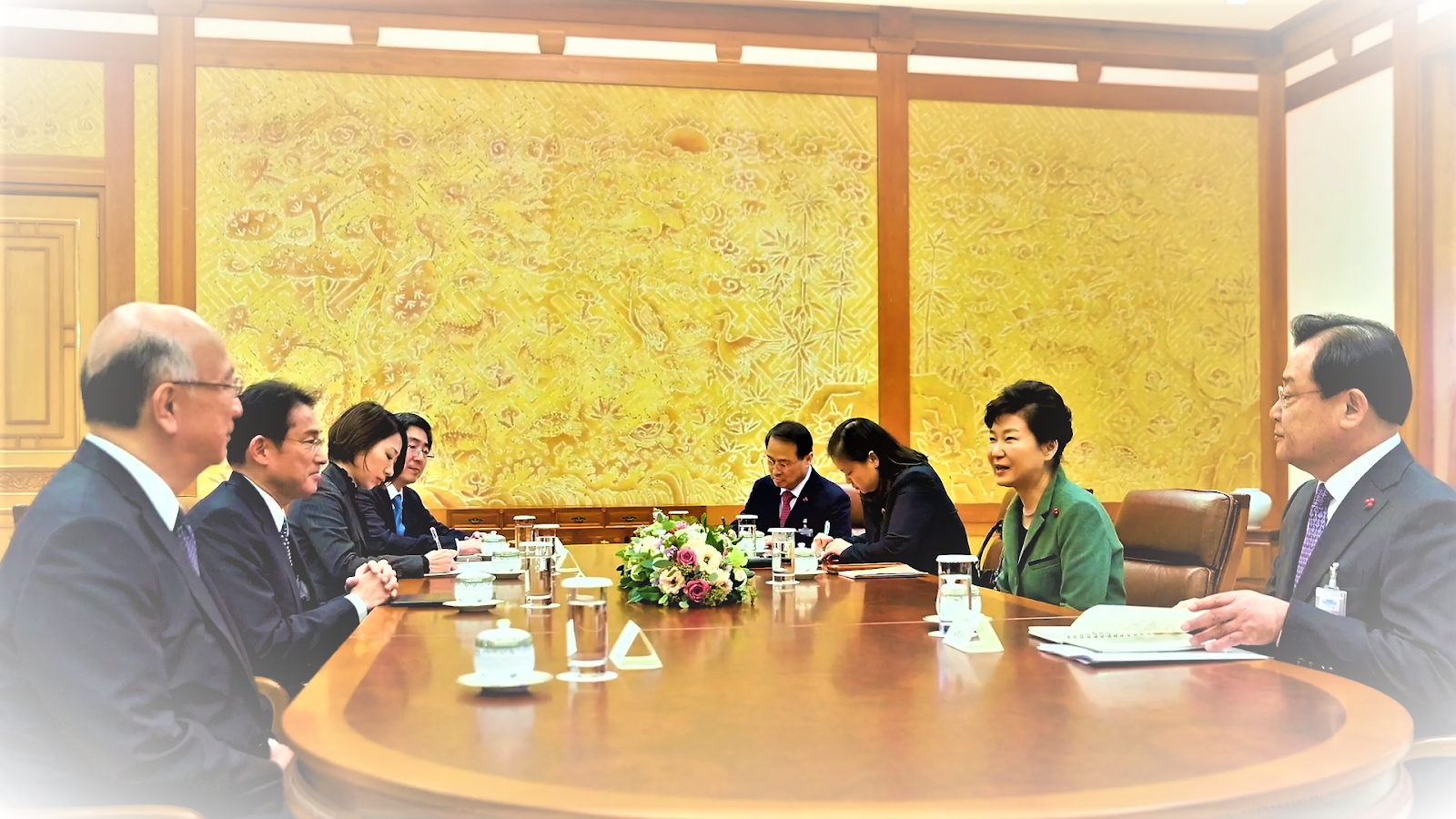 What is the relationship between Japan and Korea? officials meeting