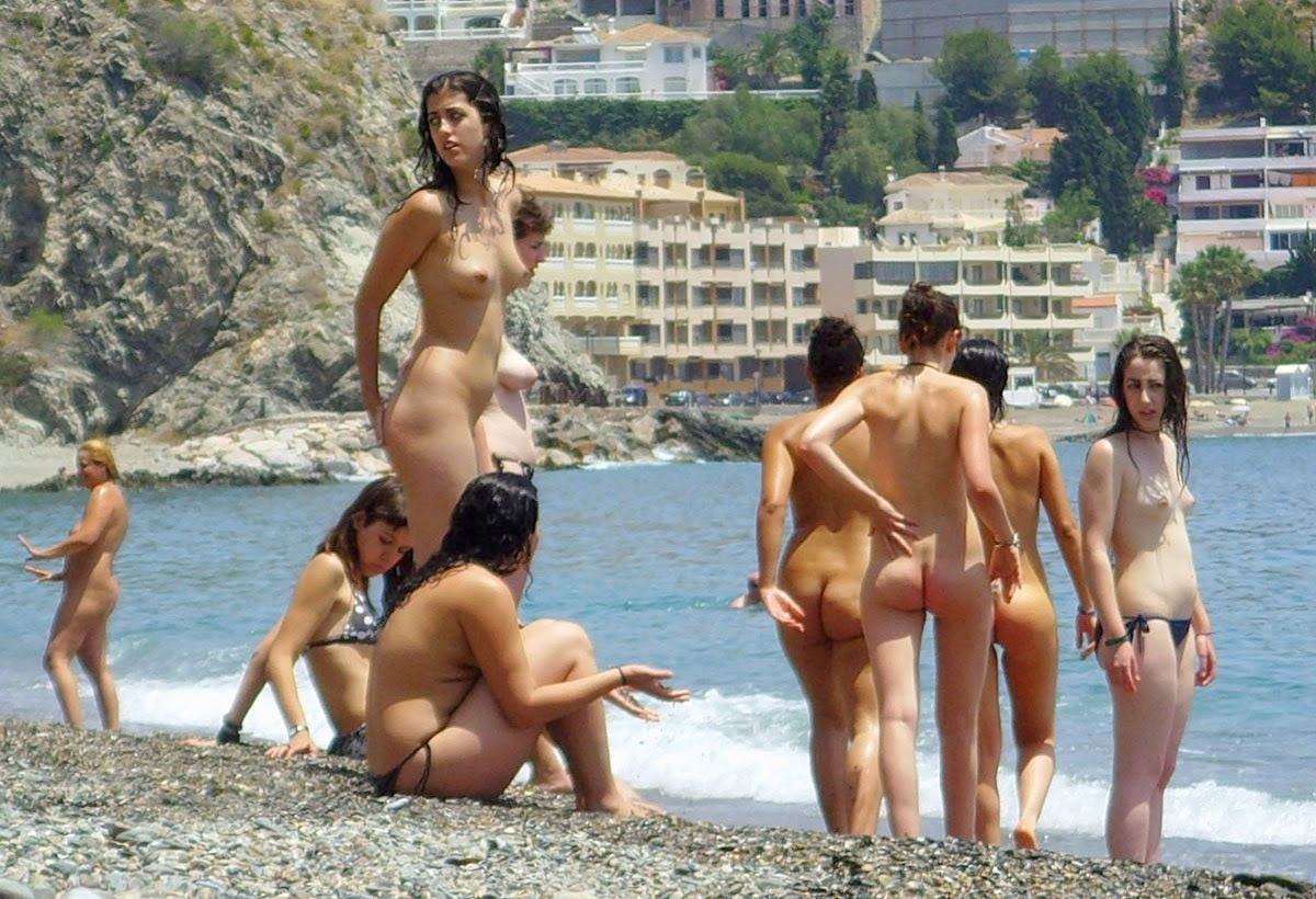 sexy nude womens in the beach of spain