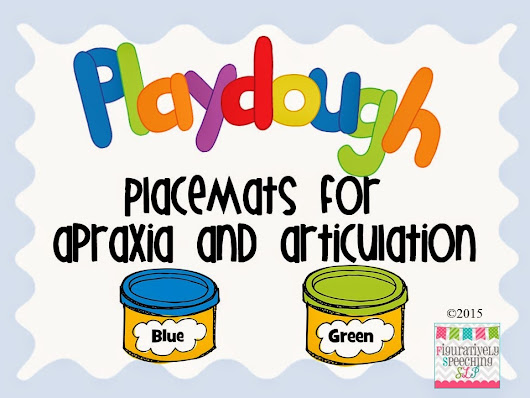 Speechie Freebies: Play dough Placemats