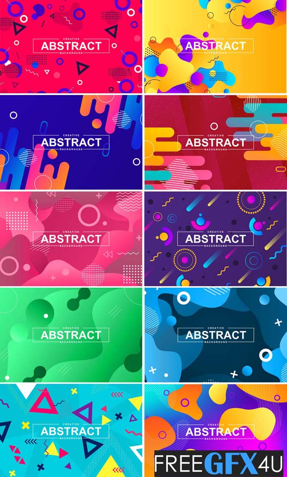 Geometric And Liquid abstract Vector background