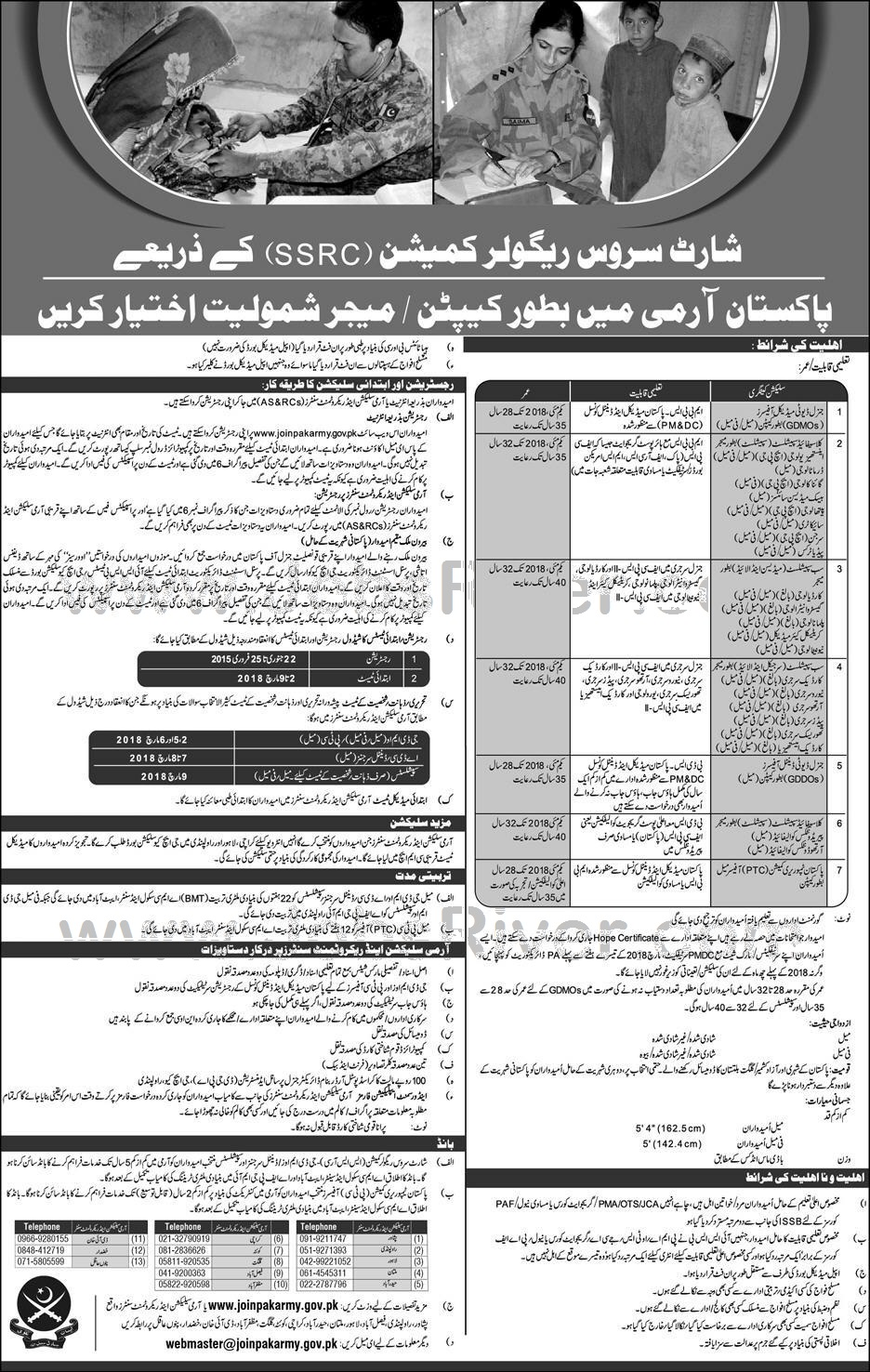 Join Pakistan Army Latest Jobs Announced in January 2018