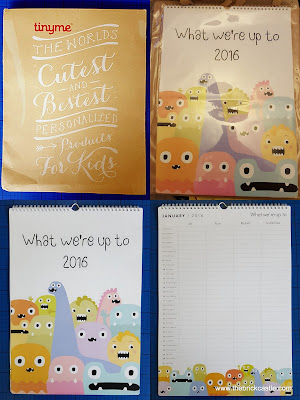 TinyMe Personalised Family Calendars Review