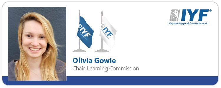 Olivia Gowie - IYF Chair, Learning Commission