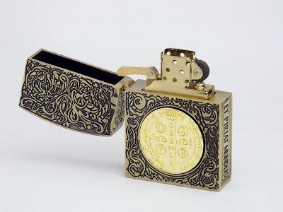 コンスタンティン ZIPPO ライター ムービーサイズ レプリカ 6面彫り DSCF5978