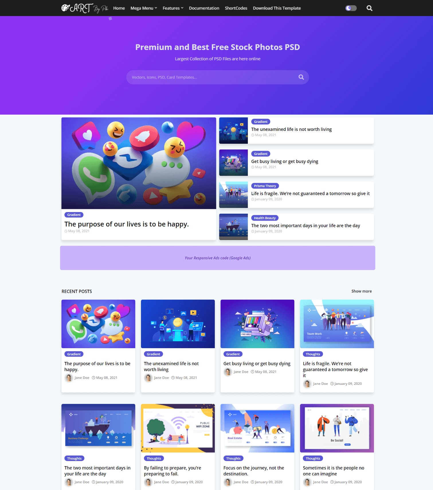 Art Vector And Responsive Blogger Template