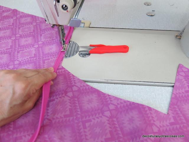 como coser vivo tubería