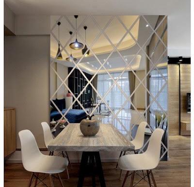 kinh thuy trang tri phong an 93 Thi công lắp đặt kính trang trí tường nhà ở, showroom, shop, công ty tại HCM