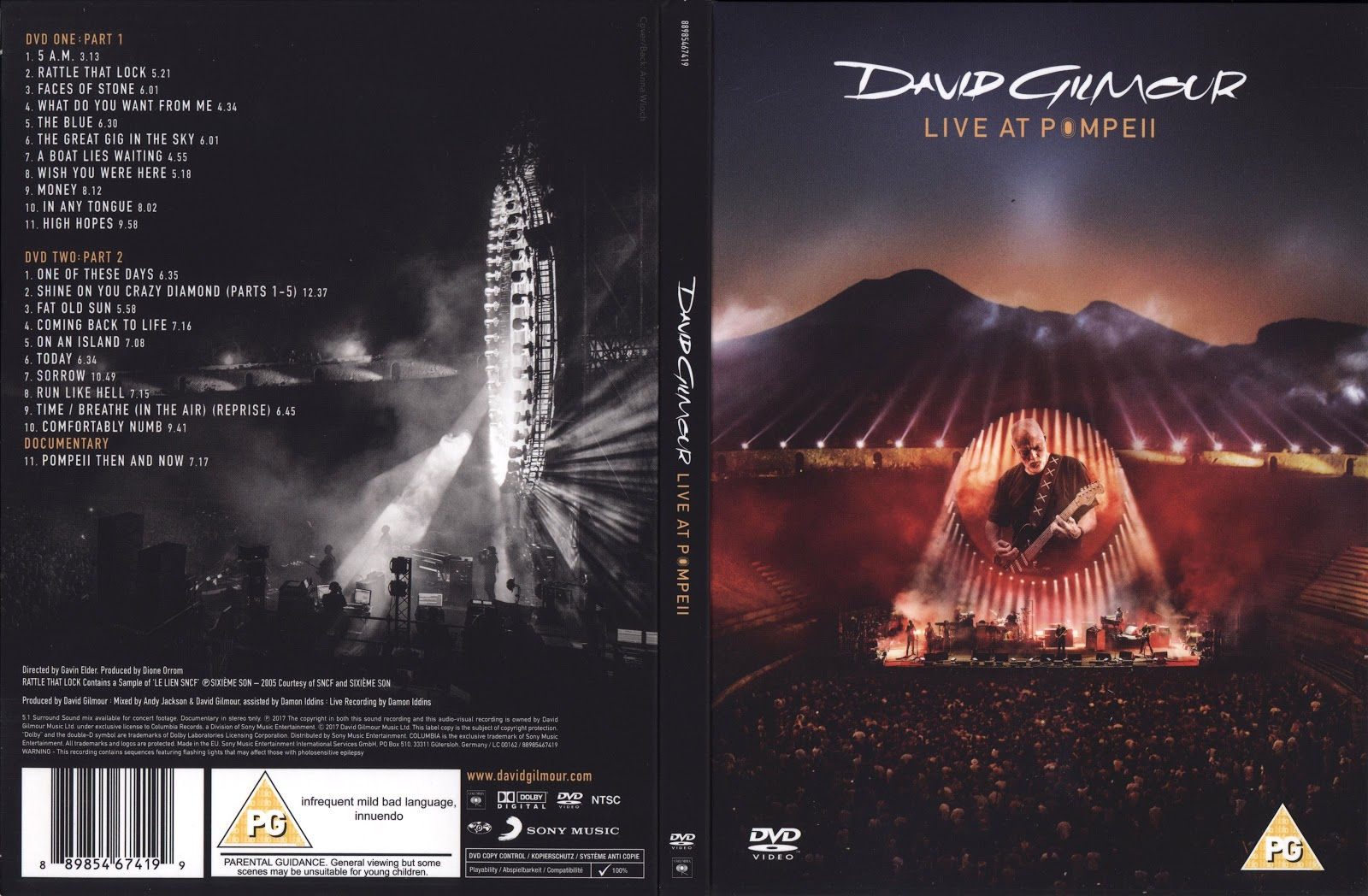 pink floyd ilustrado david gilmour live at pompeii dvd