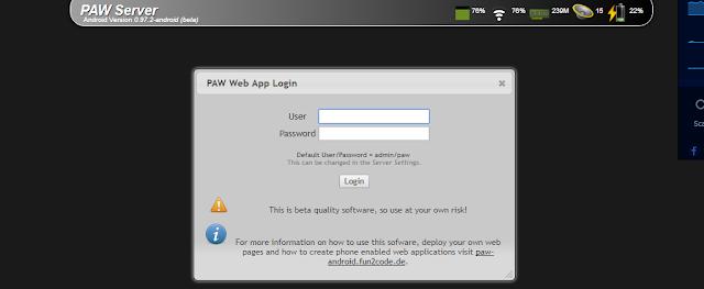 تطبيق Paw Server
