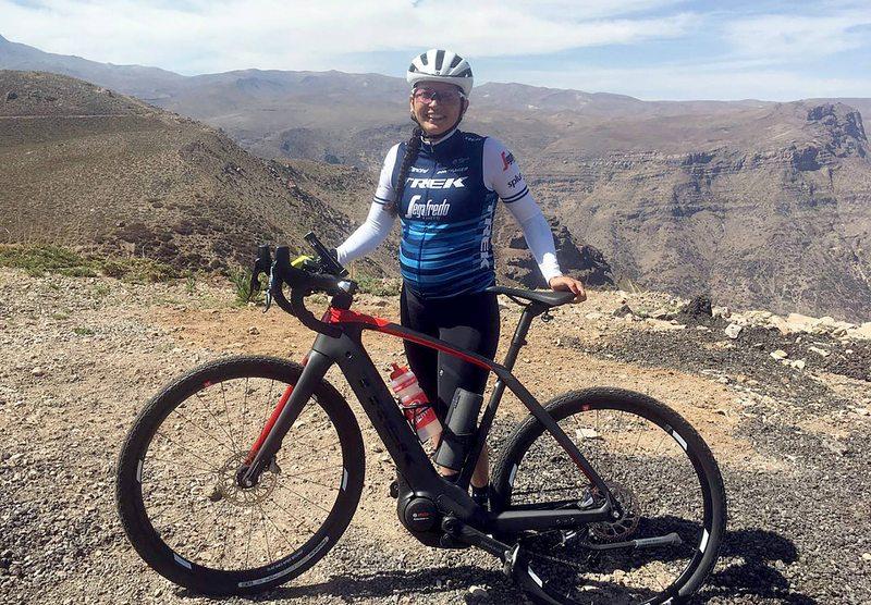 Paola Muñoz subió a Farellones en bicicleta con siete meses de embarazo