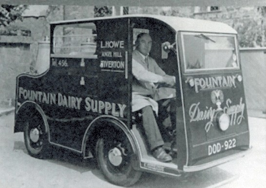 Fountain Dairy's Morrison-Electricar - c.1941 - Courtesy of Tiverton Museum