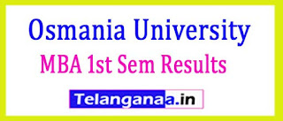Osmania University OU MBA 1st Sem Results (CBCS) 2017