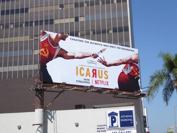 Icarus documentary billboard