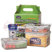 Lock & Lock Container Set With Color Box HPL816SC04