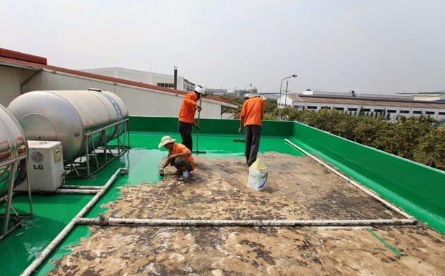Thi công sơn epoxy chống thấm mái nhà xưởng