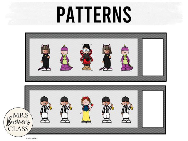 Kindergarten Math and Literacy Centers for Halloween