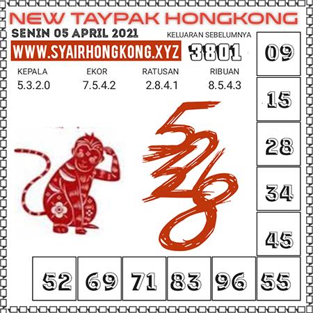 Prediksi New Taypak Hongkong Senin 05 April 2021