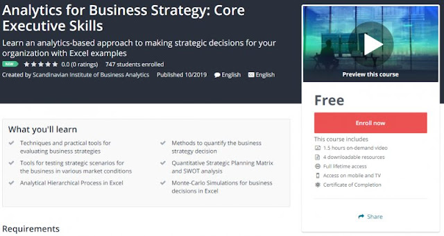 [100% Free] Analytics for Business Strategy: Core Executive Skills