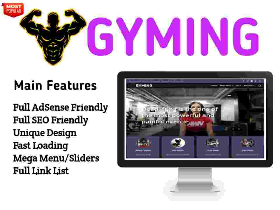 Gyming Blogger Template